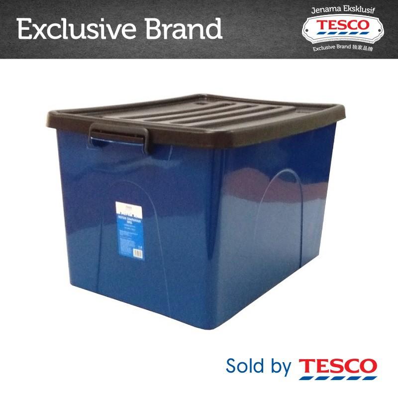 Tesco Storage Box Assorted Color 105l 9908sc