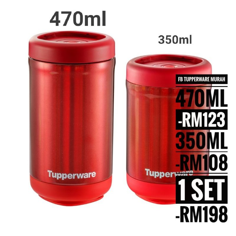 TUPPERWARE Stacking Thermal Flask