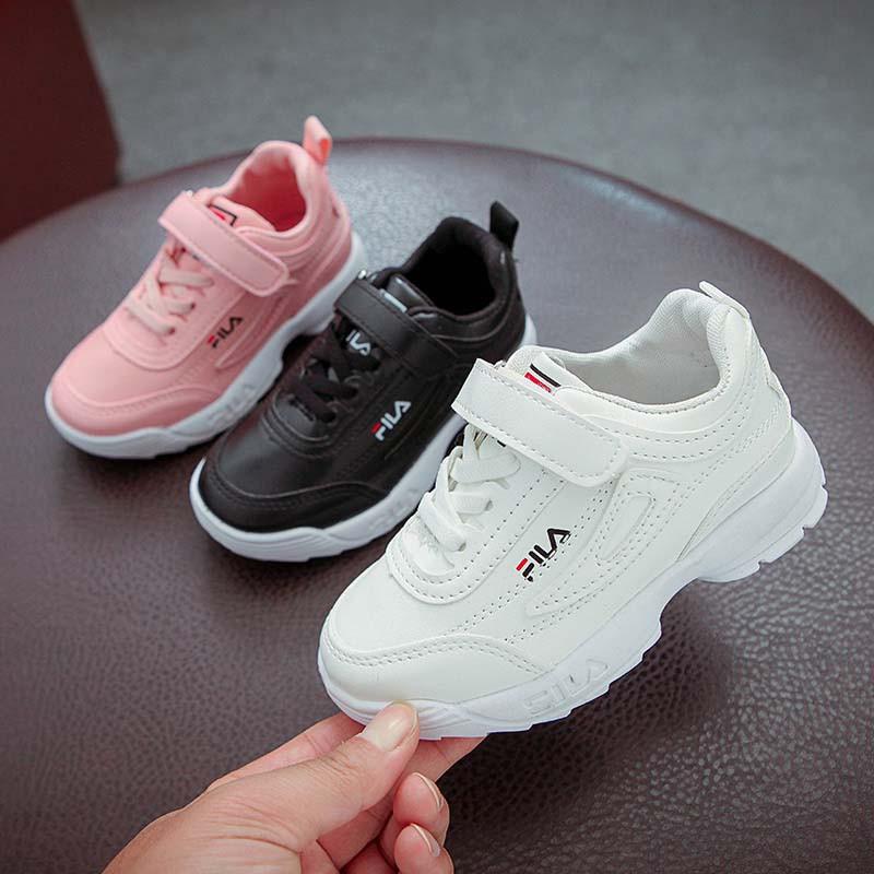 4c4640f4f3 Baby fila Sneaker Boys Girl Breathable Anti-Slip Shoes