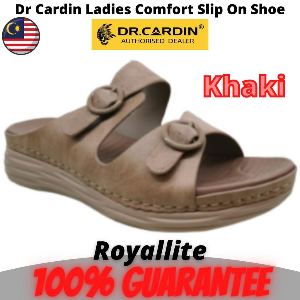 DR CARDIN LADIES SANDAL COMFORTABLE SHOES (2BI-1102) Khaki & Brick