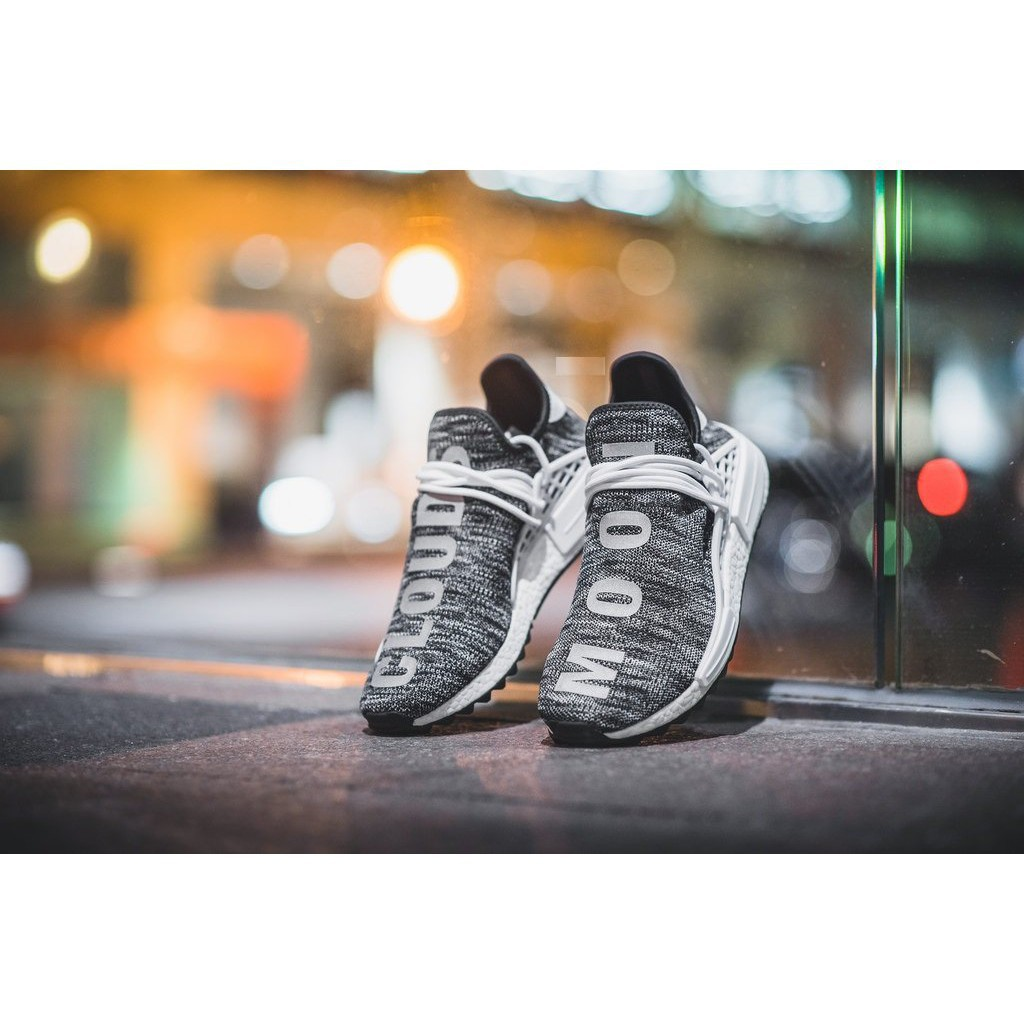1515f62837390 Original Pharrell Williams x Adidas Human Race NMD TR Core Black ...