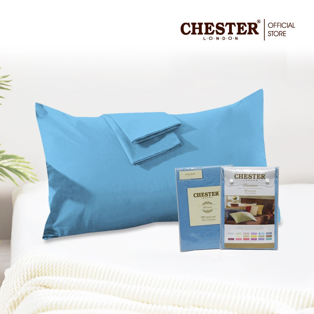 Chester London, 100% Cotton Sateen Pillowcase