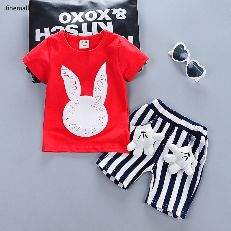 Toddler Kids Boys POL T-shirt Tops Baby Outfits Short Sleeve Clothes 0-5Years