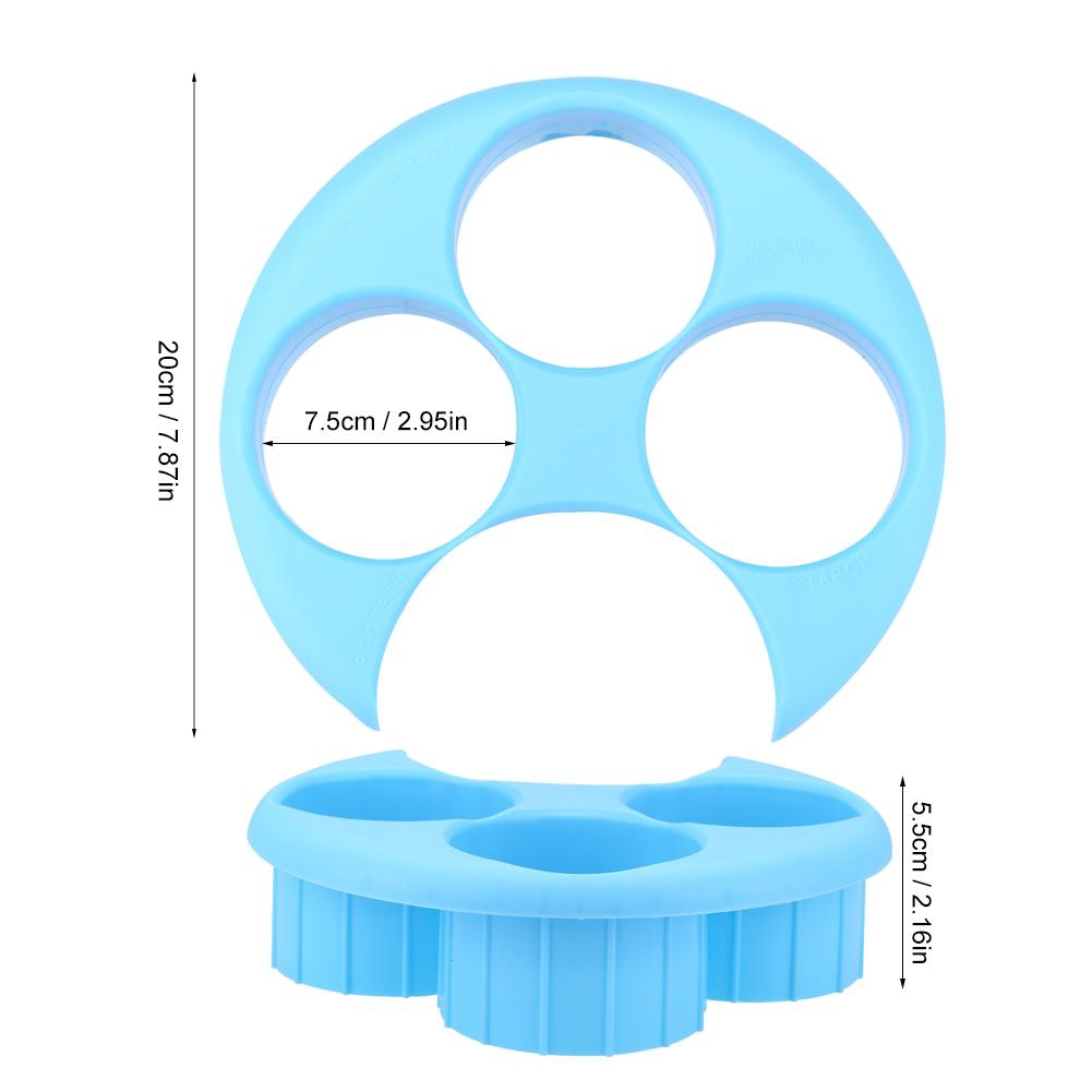 Plastic Meal Measure Portion Plate Weight Loss Diet Control Kitchen Tools