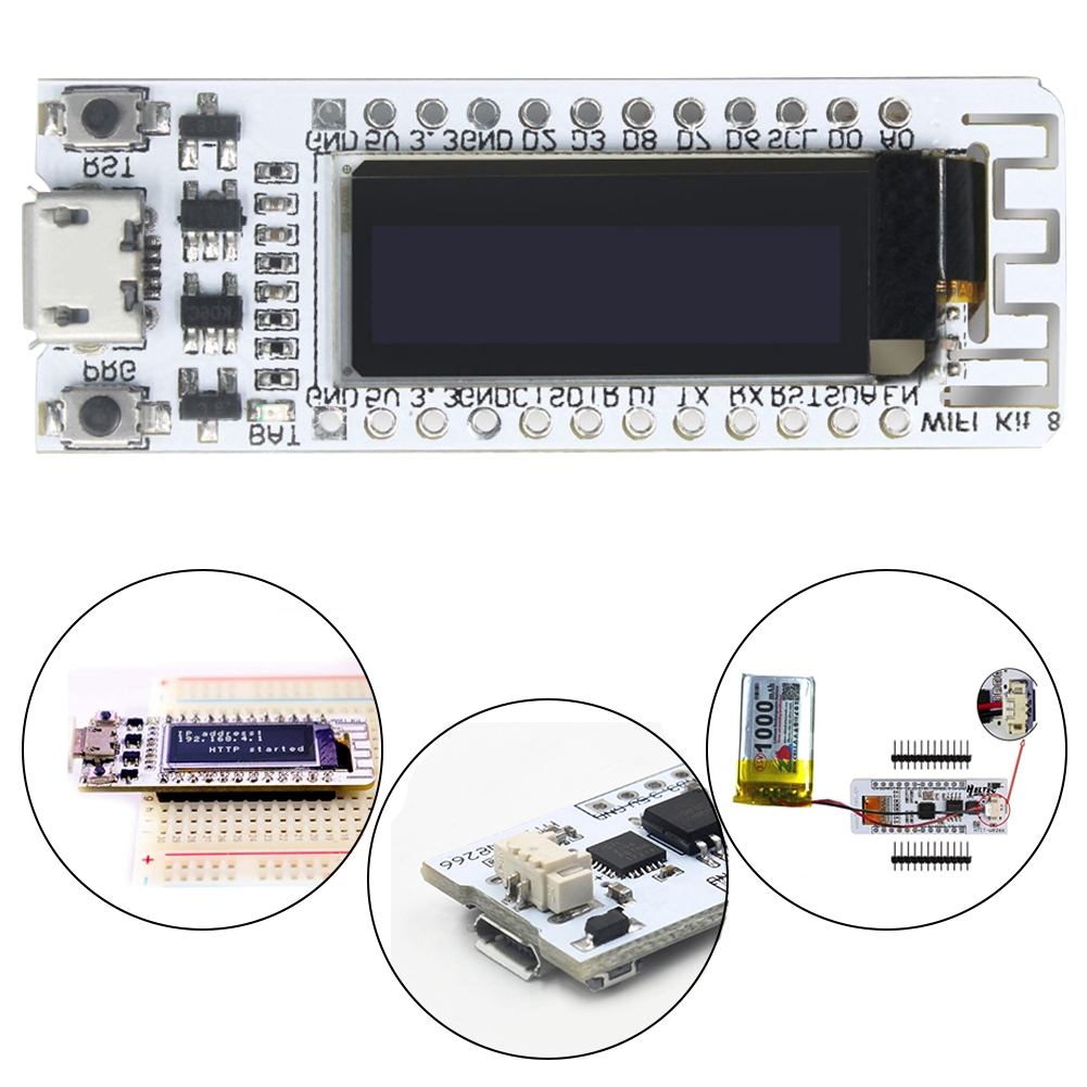 ESP8266 With OLED Display Internet Accessories Development Board PCB WIFI  Chip CP2012 Flash For NodeMcu