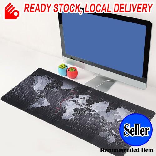 World Map 80x30cm Large Mouse Pad Gaming Mat 70x30cm 90x40cm
