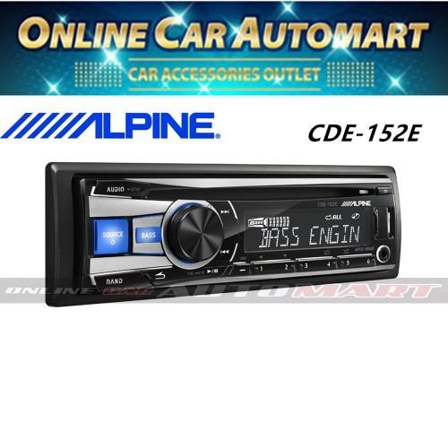 Alpine CDE-152E Single DIN CD USB Aux iPOD Controller Car Stereo Receiver