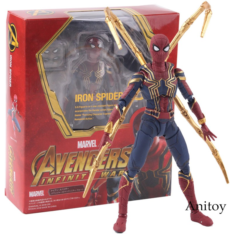 S H Figuarts Marvel Avengers Infinity War Iron Spider Spiderman Action  Figure