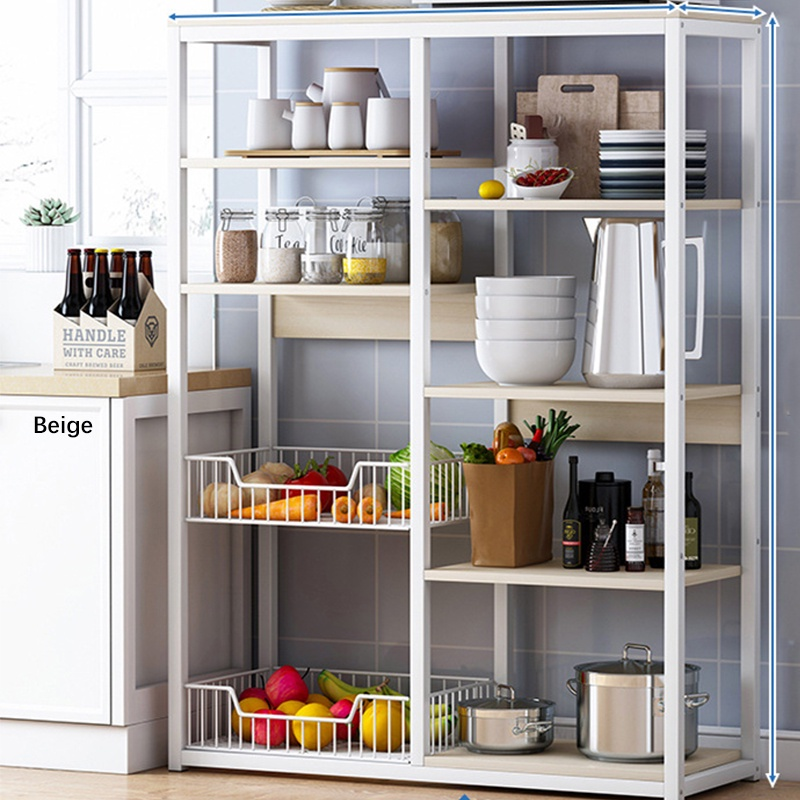 GDeal Multifunctional Modern Large Capacity 5 Layer Kitchen Microwave Utility Storage Rack