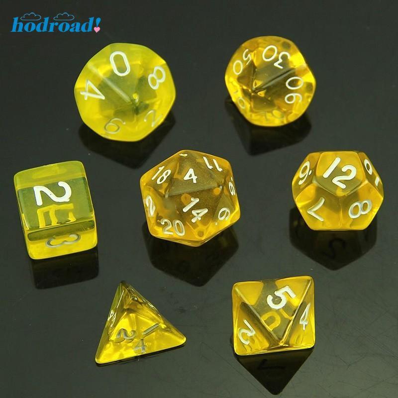 7 Set D20 Game Dice Twenty Sided Die RPG D/&D Ten Colors Polyhedral Dice