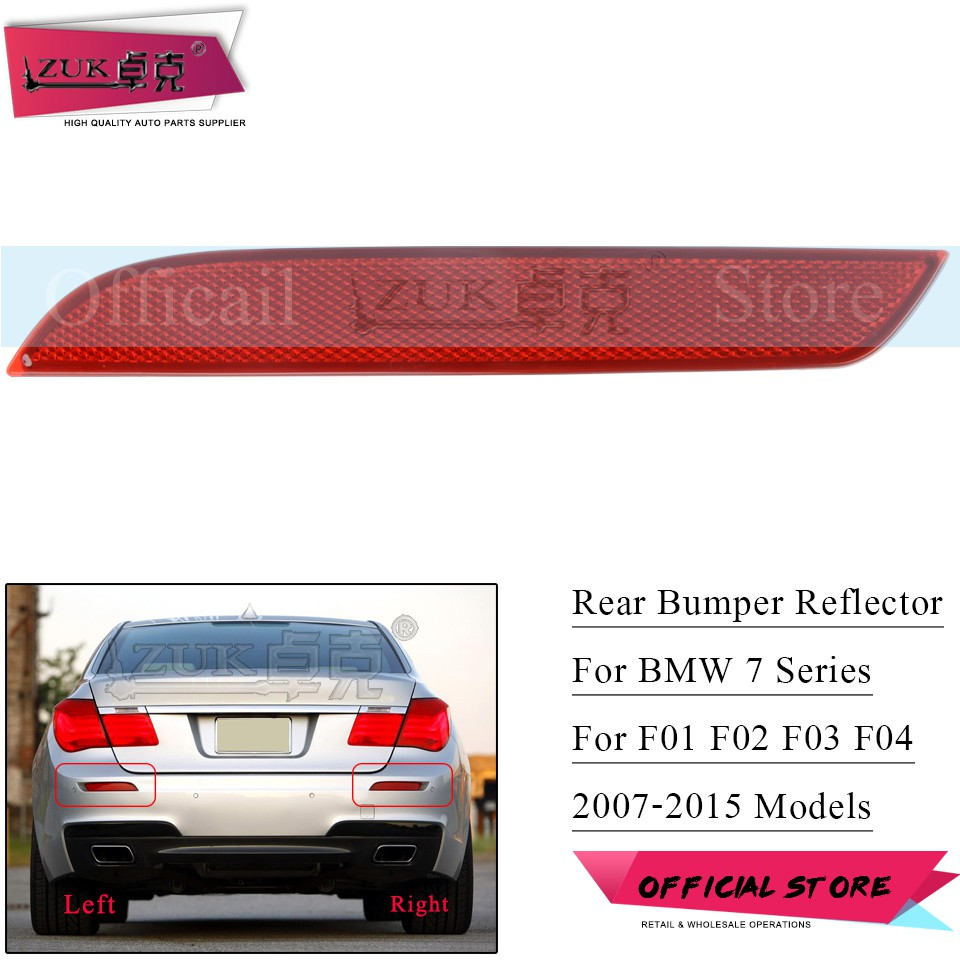 BMW 5 Series G30 17 Rear Bumper Reflector Light Right Driver M Sport Hybrid