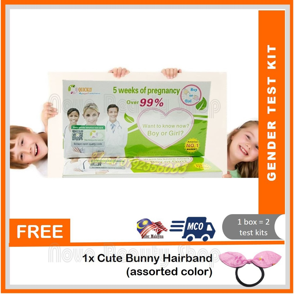 New Baby Gender Predictions Test Kit Alat Uji Jantina Boy or Girl Early Pregnancy