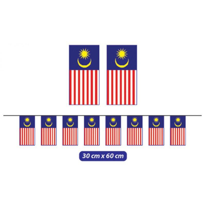 Malaysia Bunch Flag Bundle Bunting Bendera Malaysia Banting Malaysia Flag