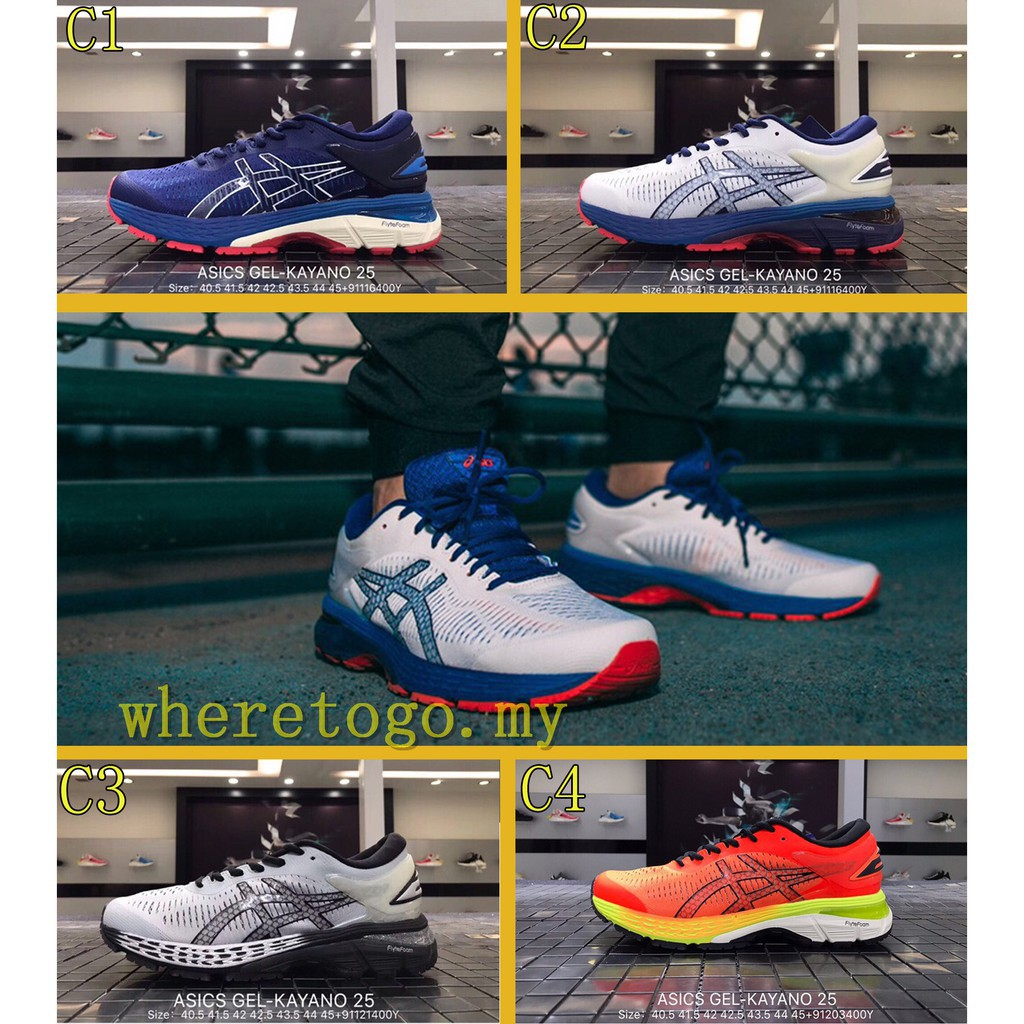 5bc51e82680 8 color Real kasut Asics Gel Kayano 25 men sneakers sports running Walking  shoes