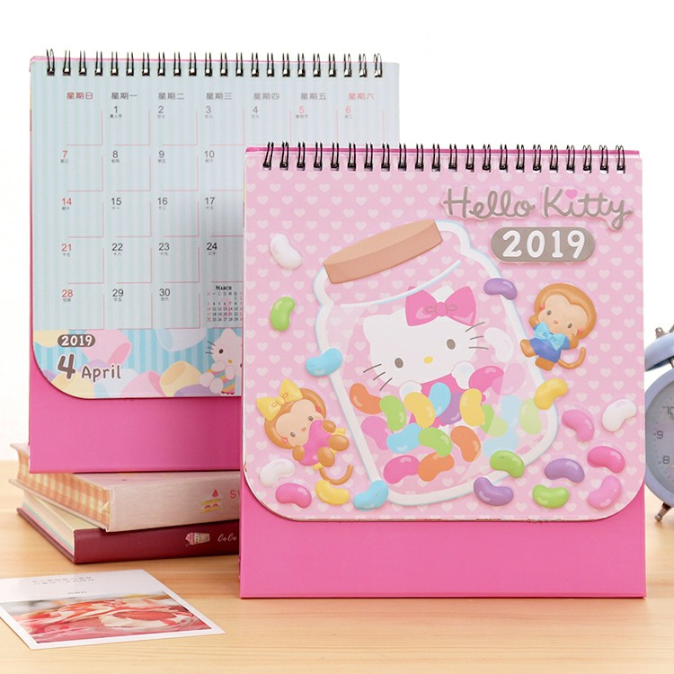 Delicious 1 Pcs Hot Korean Kpop Exo 2019 Year Desk Calendar Fans Collection Stationery Table Calendar Gifts Calendar Office & School Supplies