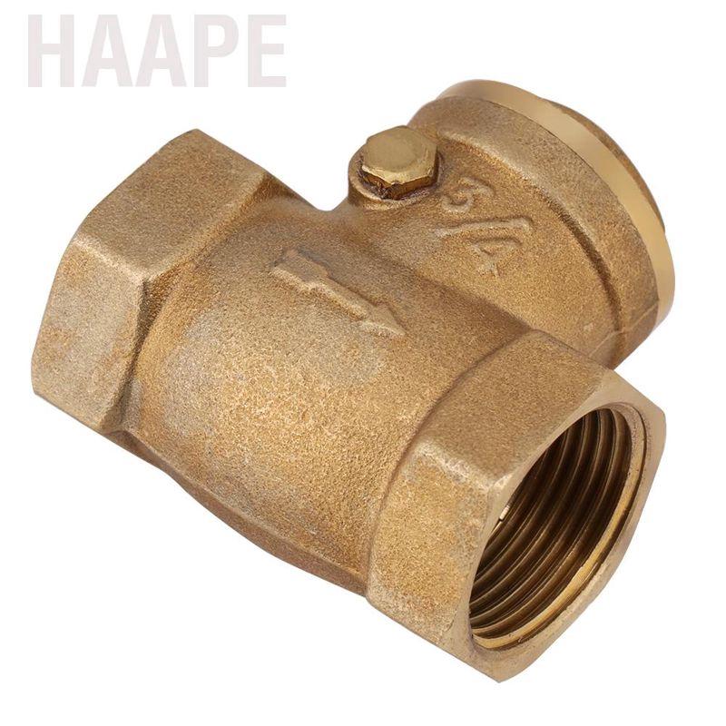 Check Valve 1pc DN20 Female Thread Brass Non-Return Swing Check Valve 232PSI Prevent Water Backflow