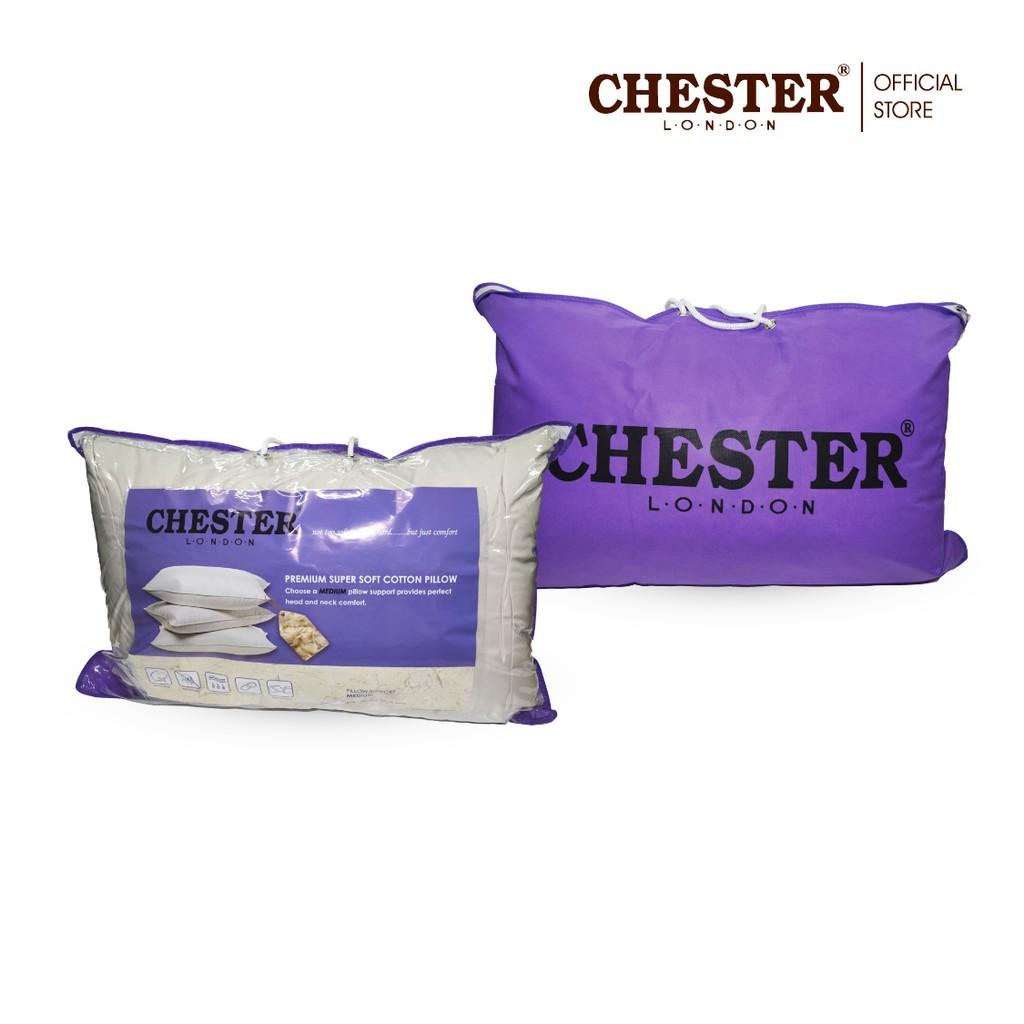 Chester London, Premium Super Soft Cotton Pillow / Bantal Hotel - Medium ( 1 pc )