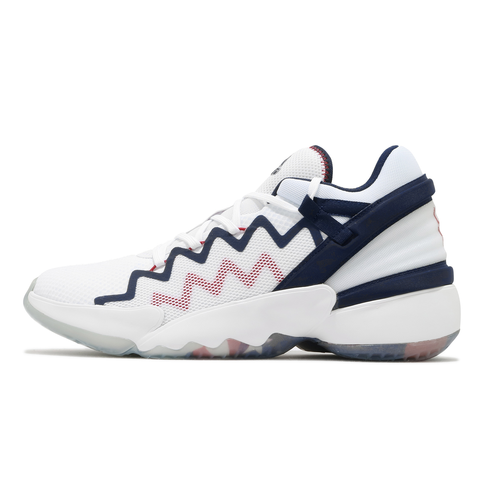 ven Nevada Quinto  Adidas Basketball Shoes D.o.n. Issue 2 Gca White Navy Red Usa Men's Shoes  Adidas | Shopee Malaysia