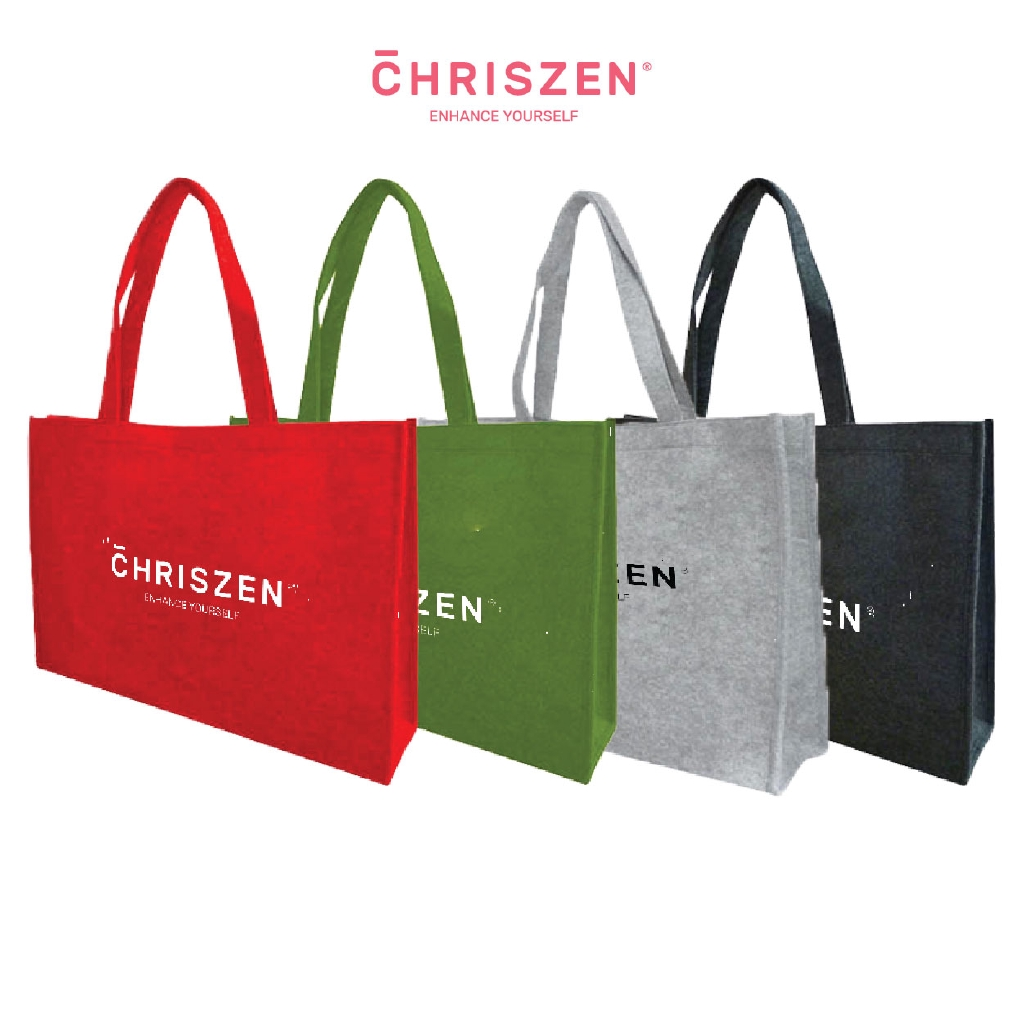 Chriszen Wool Felt Bag (Olive) – 4 Colors Selection