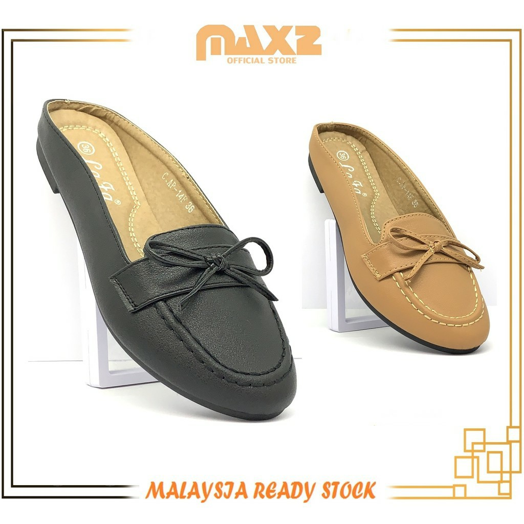 {Ready Stock}Ladies Non-slip Comfort & Casual Half Rounded Toe Flat Shoe