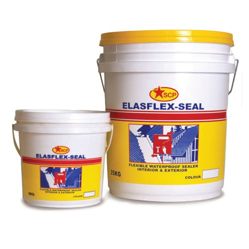 Elasflex Scp/Pentes/Sika/Aj Elasflex Waterproofing Grey/White 1.5kg/5kg