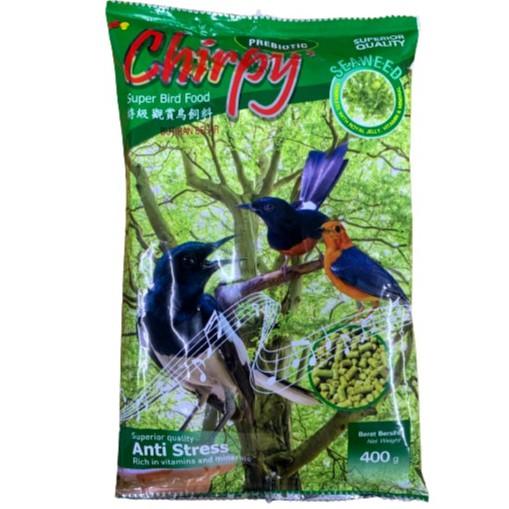 Chirpy Super Bird Food 400g - Makanan Burung