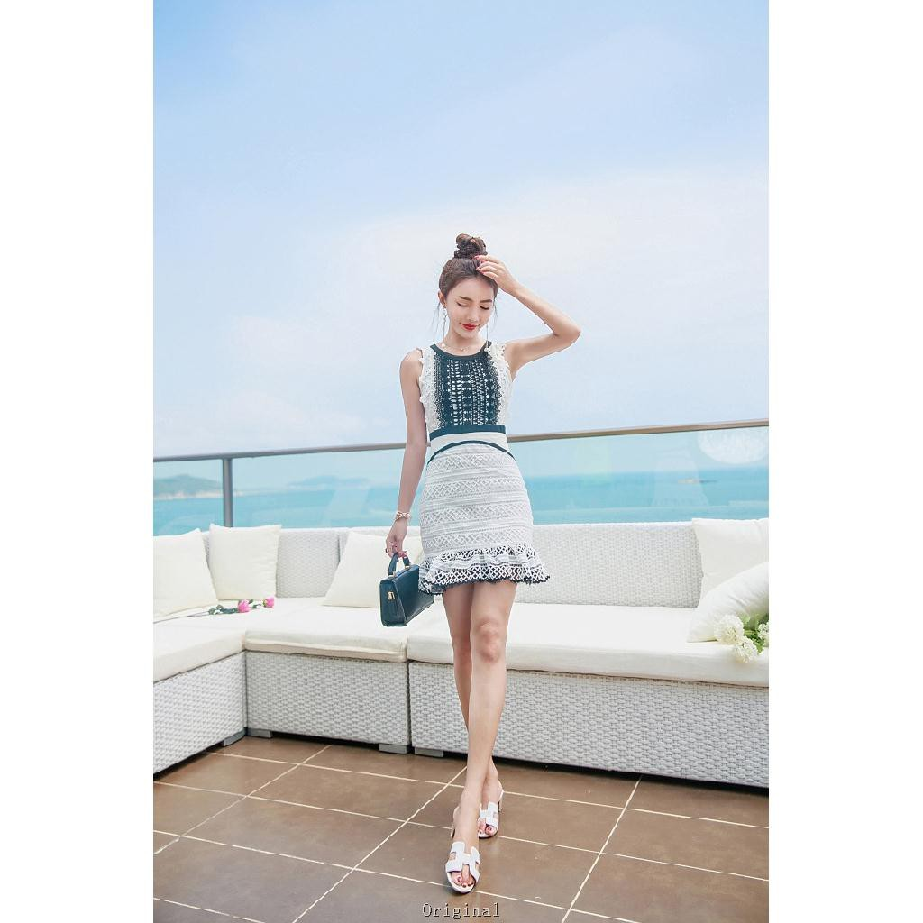 22b6cfa266ec5 Women New Fashion Slim Pencil Casual Beach Summer Lace Sexy Mini Ruffles  Dress