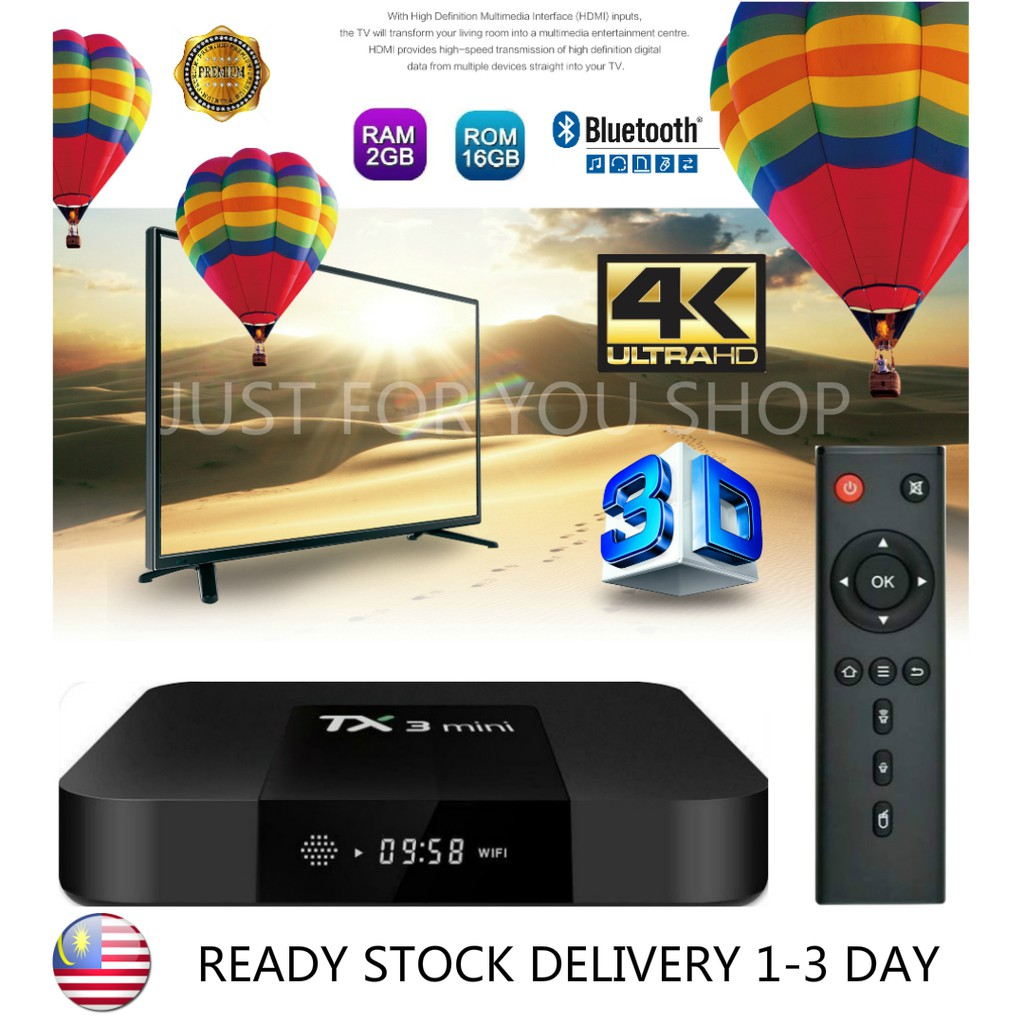 😍Preinstall10000 Channel+LatestApp😍 2GB+16GB New TX3 Bluetooh Version  Smart Tv Box Android Box TvBox