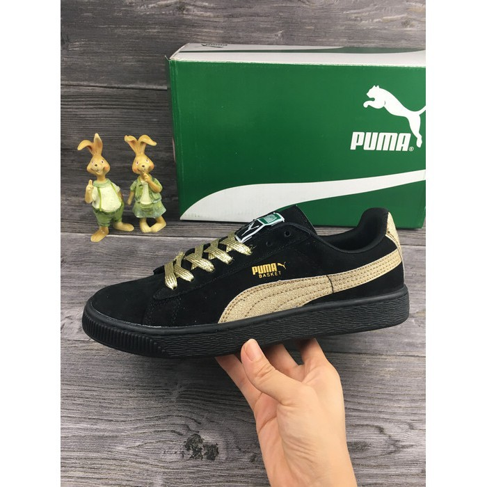 size 40 9655f 96942 Ready Puma SUEDE Classic Shoes Fashion Sports Shoes Casual Shoes Black Gold