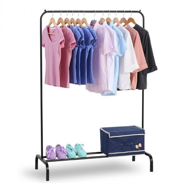 Folding Single Rod Clothing Hanger Rack