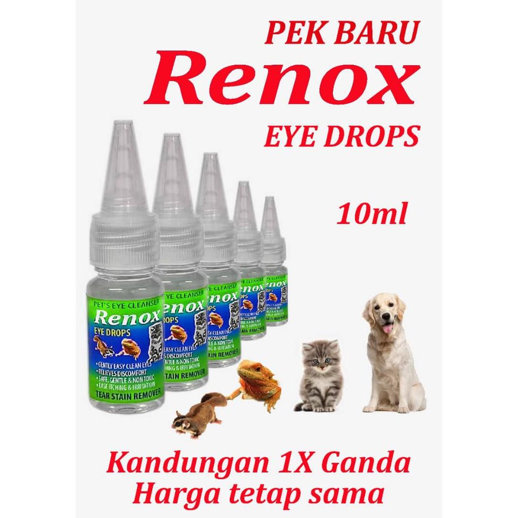 (NEW PACKING) RENOX Pet Eye Drop 10ml   Renox Ubat Mata Kucing Anjning   Infection Eye cleaning for Dog & Cat