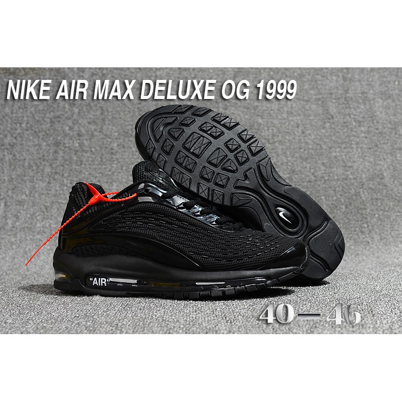 Nike Air Max Deluxe OG 1999 KPU Men Running Shoes Sneakers Trainers All Black