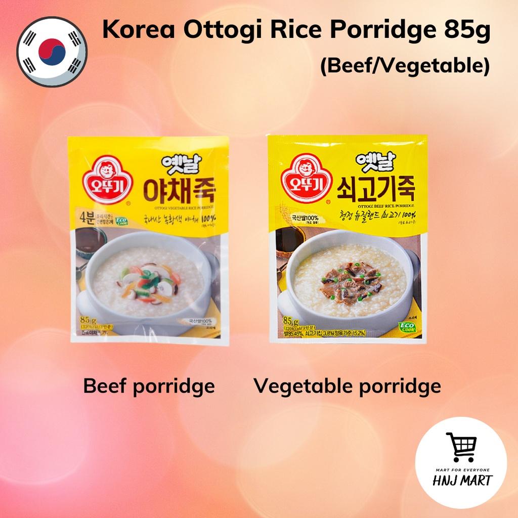 Korea Ottogi Instant Rice Porridge 85g [Beef / Vegetable]