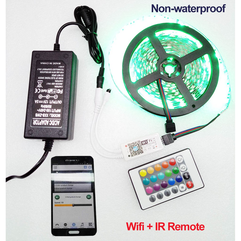 5V Multi-Color 2835 RGB LED Strip Light Wifi Controller for iOS  iPhone Android