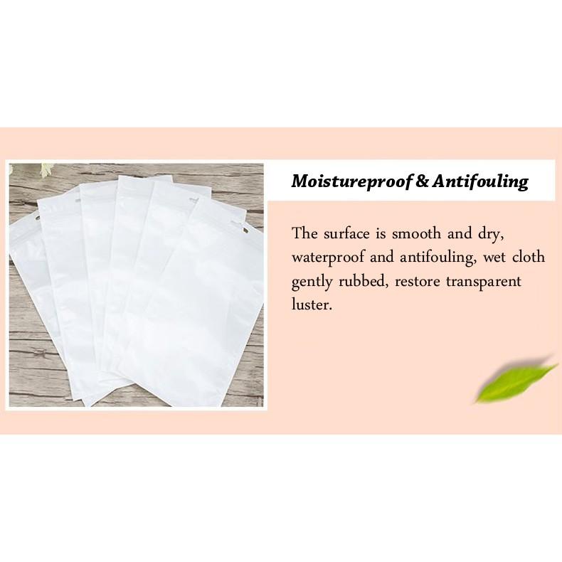 (10.5cm x 15cm) Clear White Plastic Bag Zip Lock Pouch Packaging / Plastik Beg (10pcs=1pack)