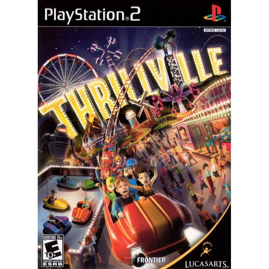 PS2 Game Thrillville, Off the Rails, Simulation Game, English version / PlayStation 2
