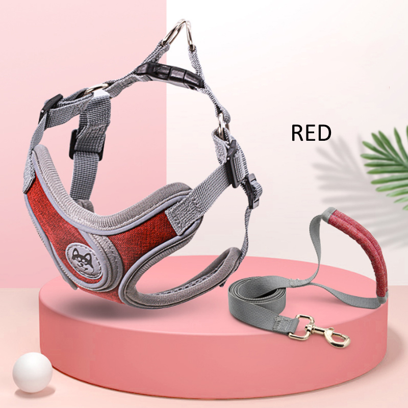 GDeal Medium Sized Pet Dog Super Breathable Night Reflective High Quality Material Harness And Strap