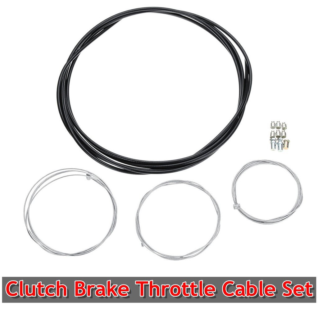 ❤❤Universal Motorcycle Cable Kit, Clutch, Brake, Throttle , brake cable set,