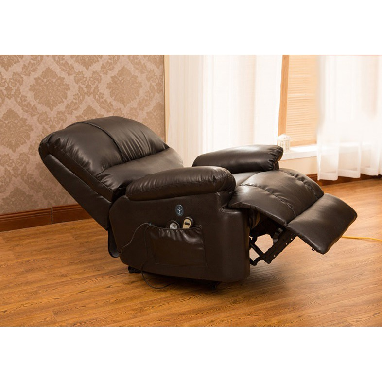 JADEN Ergonomic Deluxe Massage Recliner Sofa Chair Leather Sofa Lounge Executive Heated + Control 1462