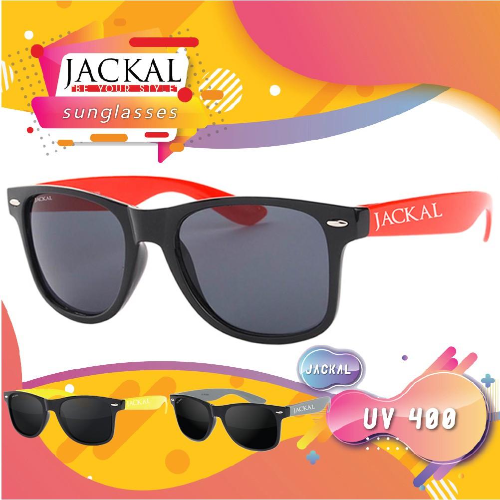 JACKAL SUNGLASSES แว่นตากันแดด รุ่น TRAVELLER JS076 JS077 JS083 Black
