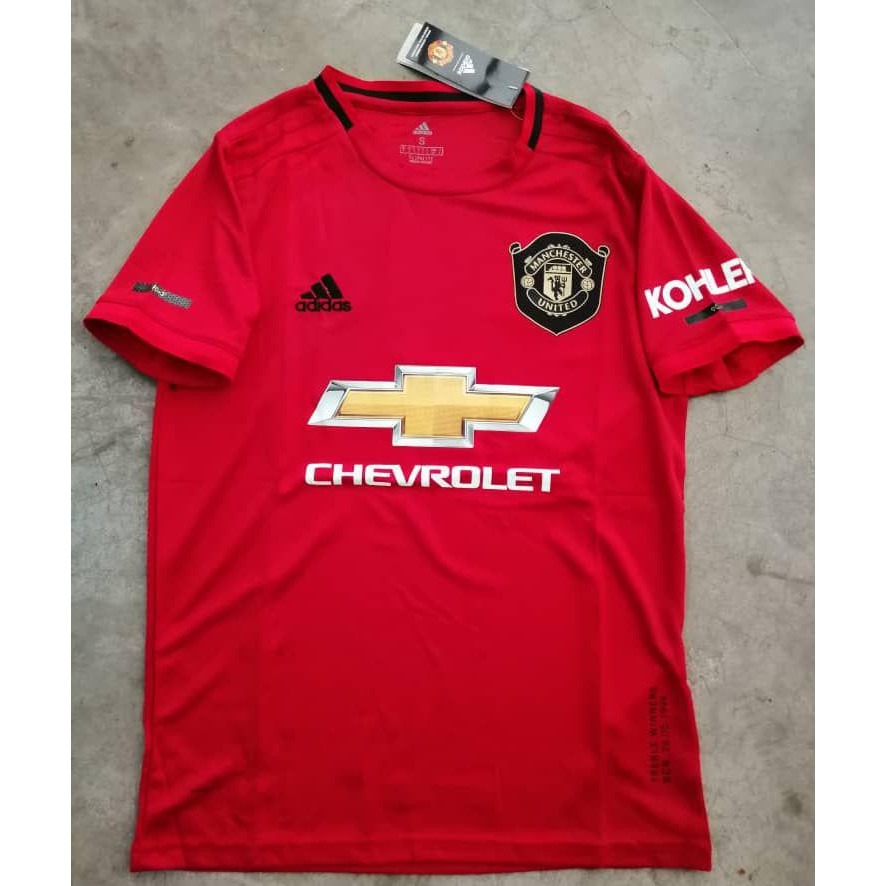 Manchester United 2019 2020 Epl Home Kit 19 20 Football Jersey Shopee Malaysia
