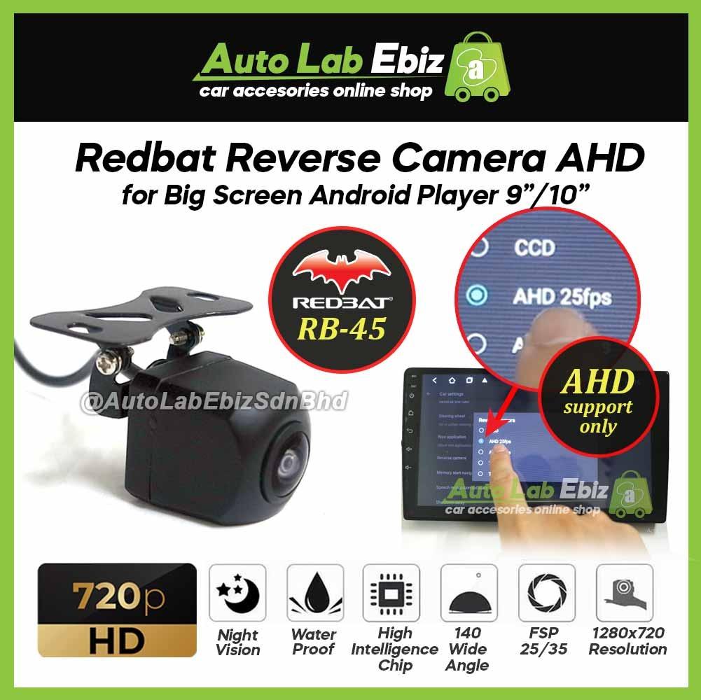 "Redbat Reverse Camera AHD 720p HD for Big Screen Android Player 9""/10"" (RB-45)"