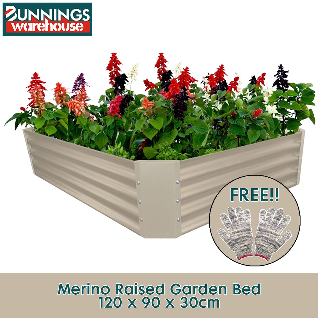 Bunnings #3321654 120 x 90 x 30cm Merino Raised Garden Bed + FREE Glove