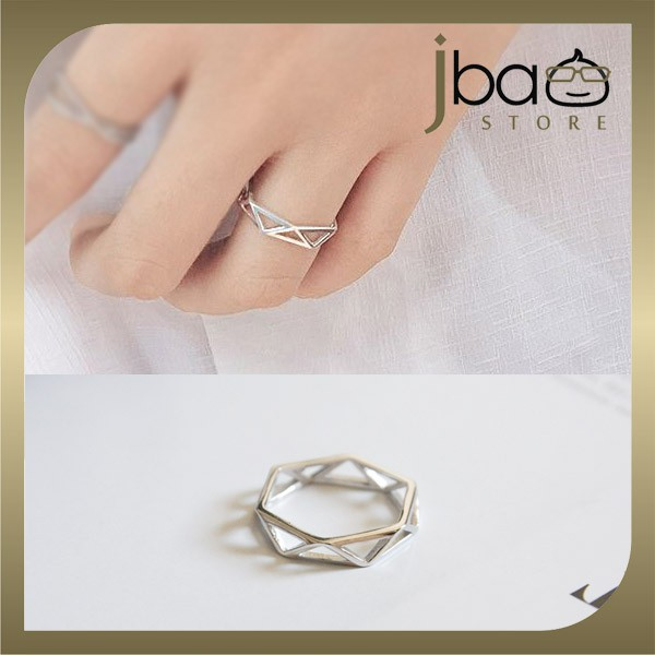 Geometry Open Ring 925 Sterling Silver Rings Birthday Valentine Christmas Gift