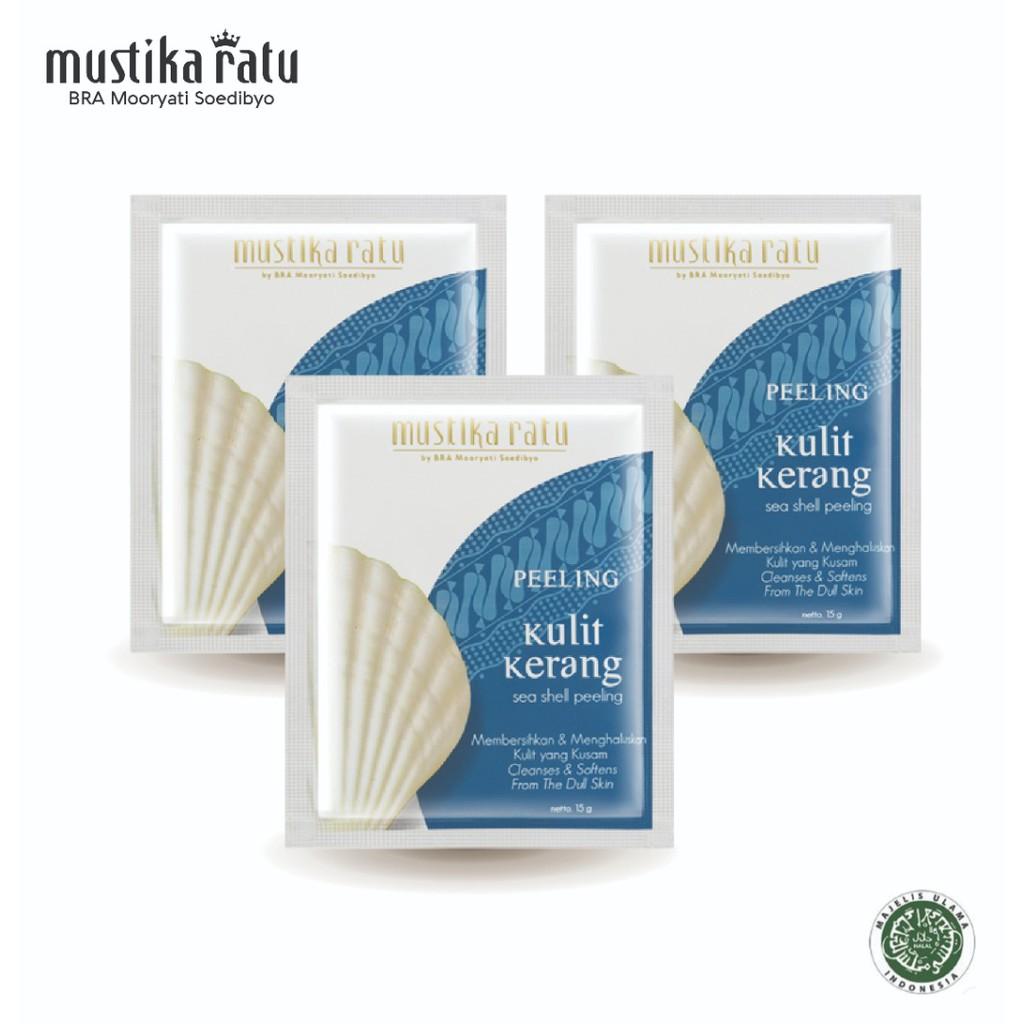 Mustika Ratu Peeling Kulit Kerang (15g x 3 Packs)