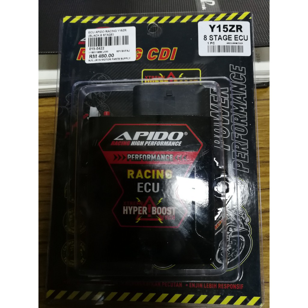 ECU YAMAHA Y15ZR (PROGRAMMABLE) CDI UNIT/APIDO/RACING PARTS/HYPER BOOST