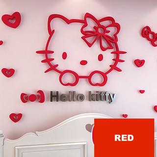 Hello Kitty 3d Wall Decoration Hello Kitty Wallpaper Shopee Malaysia