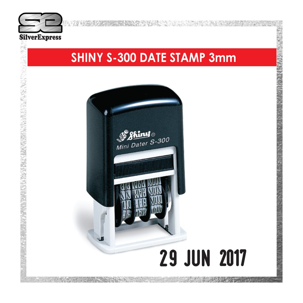S-300 DATE STAMP / STICKER STAMP / LABEL STAMP / FAST DRY / 20SECOND / 3MM HEIGHT WORDING / RUBBER STAMP / SHINY