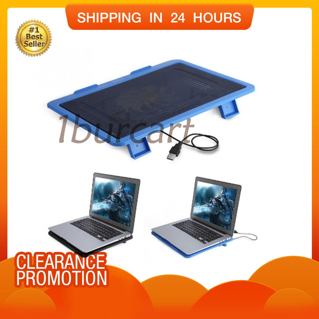 """15""""Notebook Laptop Cooler Cooling Pad Adjustable Stand with 2 LED Fans 