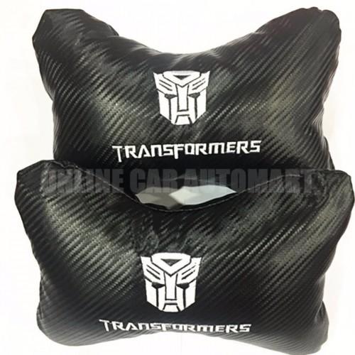 TRANSFORMERS Carbon Leather  Car/Auto Head/Neck Rest Pillow (2Pcs)